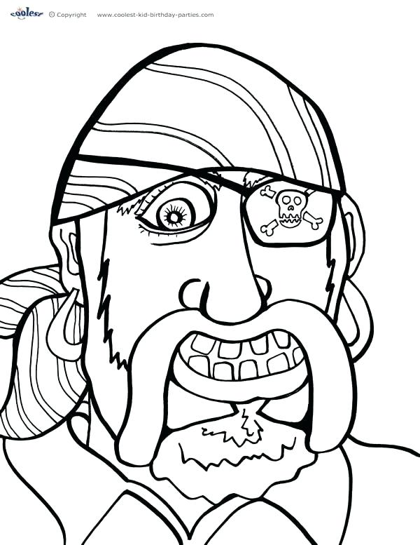 600x777 Pirate Coloring Pages To Print