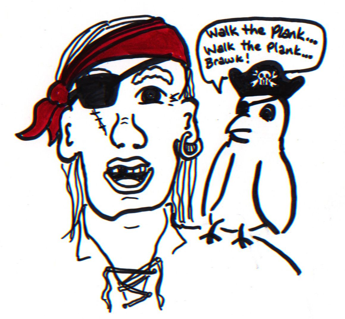 1160x1073 Good Enough Pirate With Pirate Parrot Sketching Cartoon
