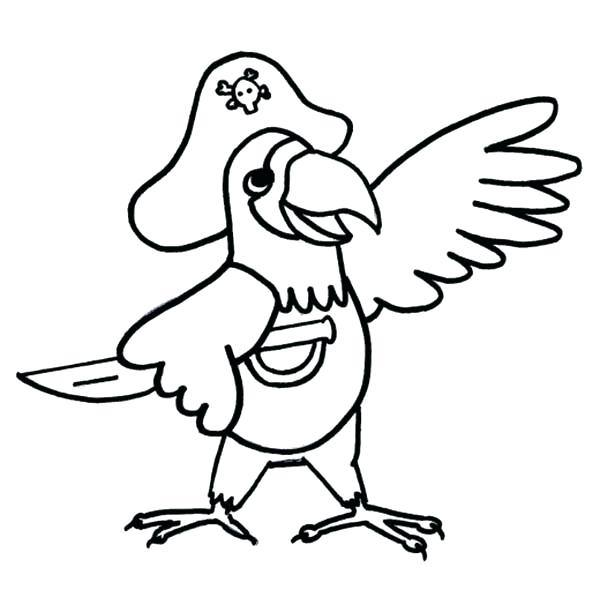 600x612 Pirate Parrot Coloring Pages