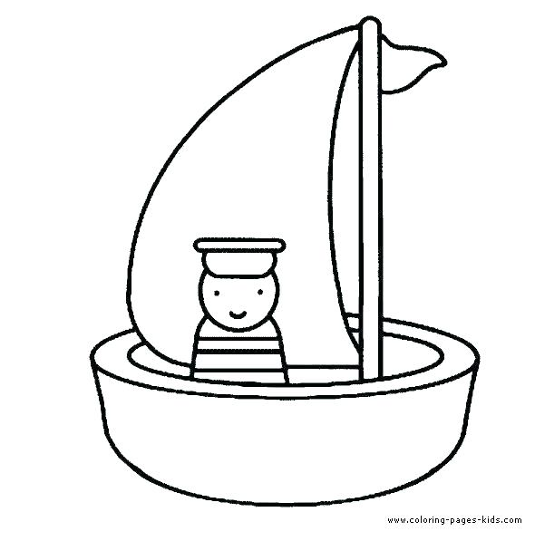 590x597 fishing boat colouring pages boat coloring pages fishing boat