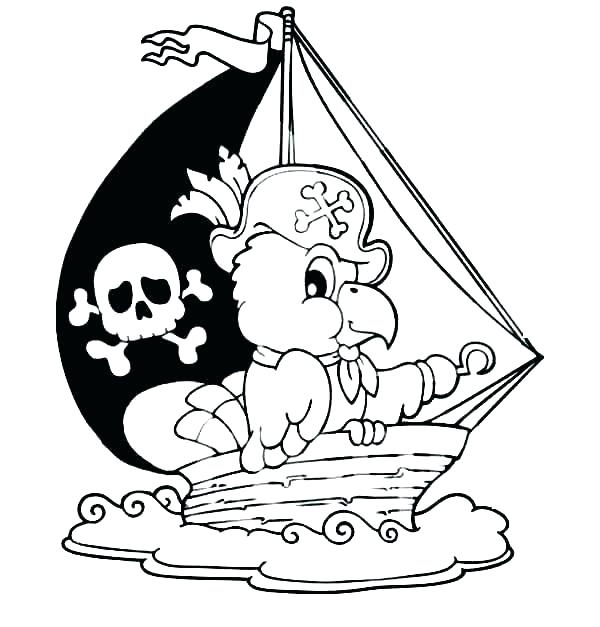 Pirate Ship Drawing For Kids | Free download best Pirate ...