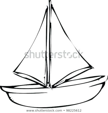 448x470 Drawing Of A Boat Lesson Drawing A Boat Drawing Board For Kids