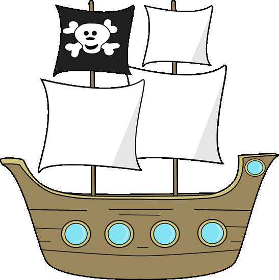 547x550 Pirate Ship Clipart Transparent