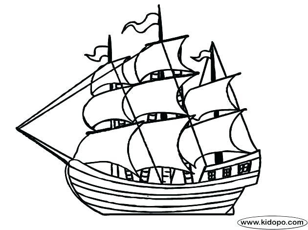 630x470 Pirate Ship Coloring