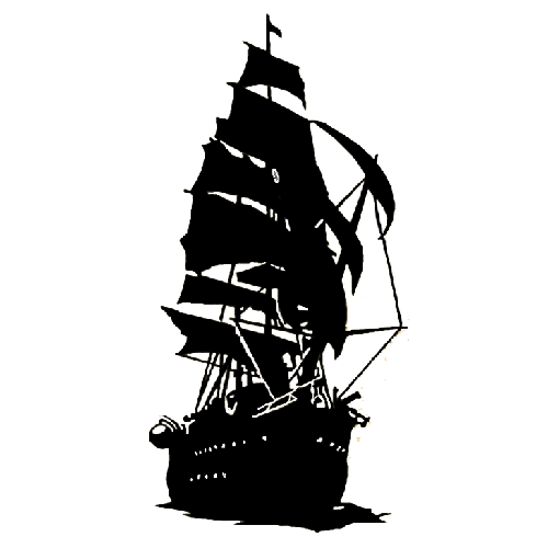 500x500 Collection Of 'pirate Ship Silhouette' Download More Than