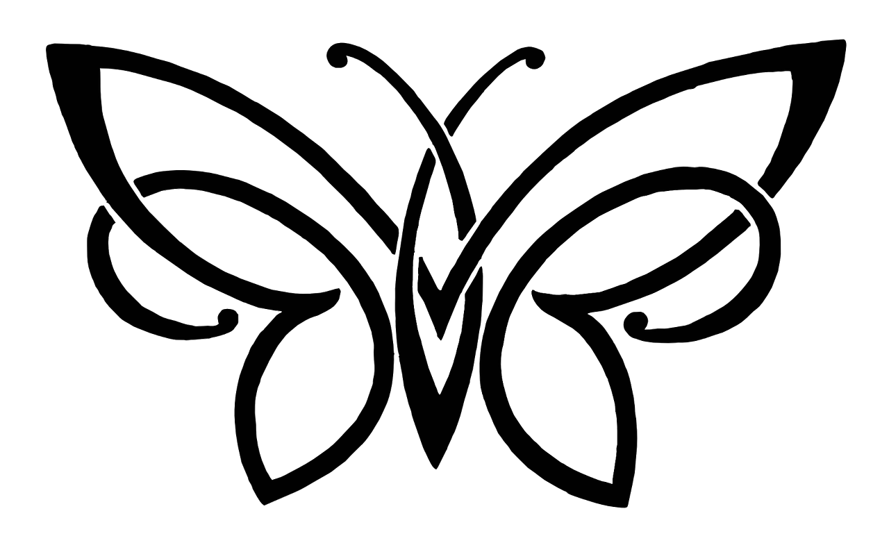 1280x782 Download Butterfly Pencil Sketch Drawing Free Png Hq Clipart Png