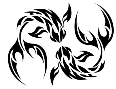 477x369 tribal pisces tattoos tattoo tribal tattoos, pisces tattoos