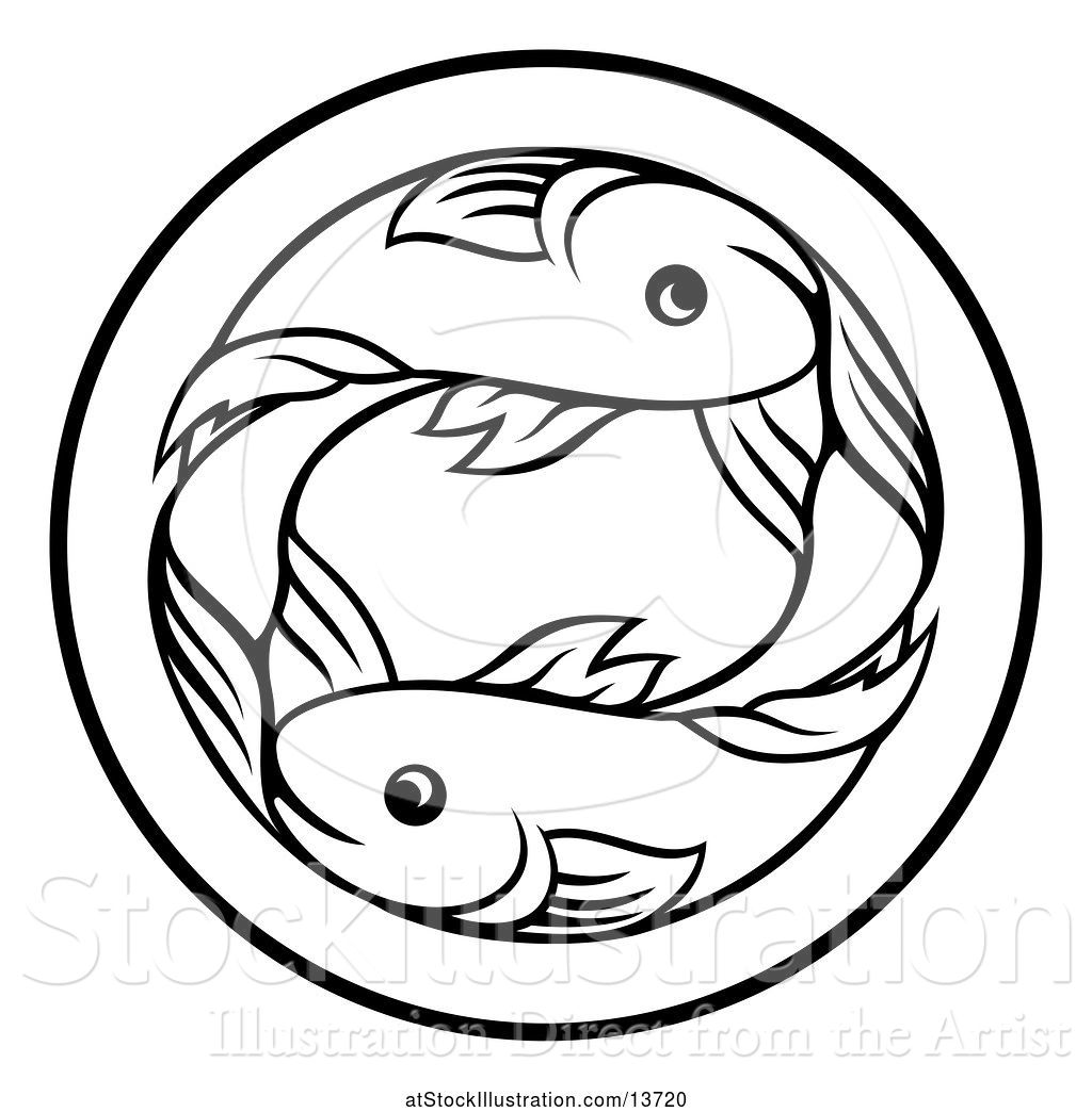 Pisces Fish Drawing | Free download best Pisces Fish Drawing on
