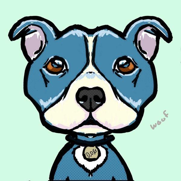 600x600 cartoon pit bulls drawing pit bull love art print dog cartoons