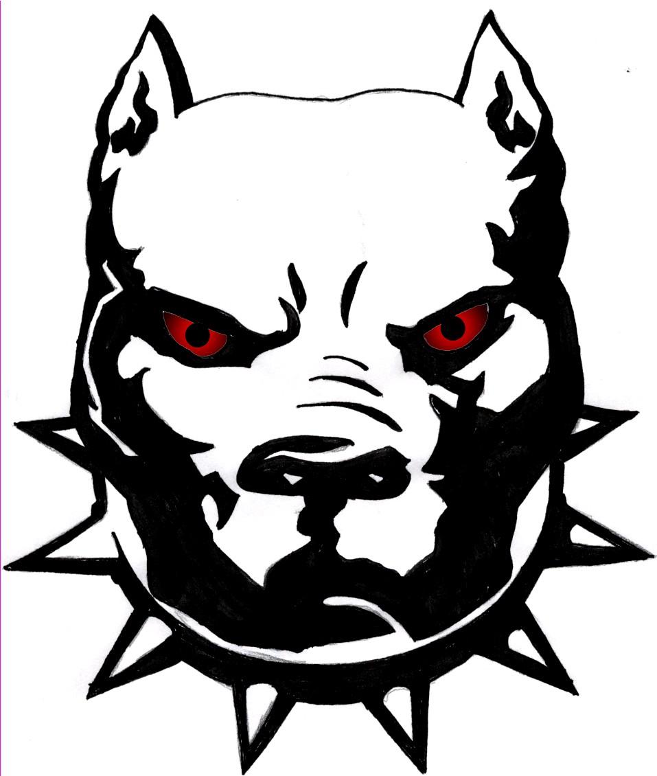 957x1130 Pit Bull Drawing Pitbull Easy