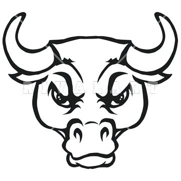361x361 Bull Face Drawing