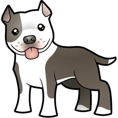 400x400 Ladygucci On Etsy For The Home Cartoon Dog, Pitbull Drawing