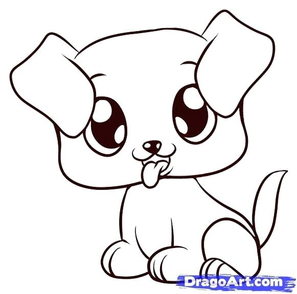 581x576 Drawings Of Puppies Step