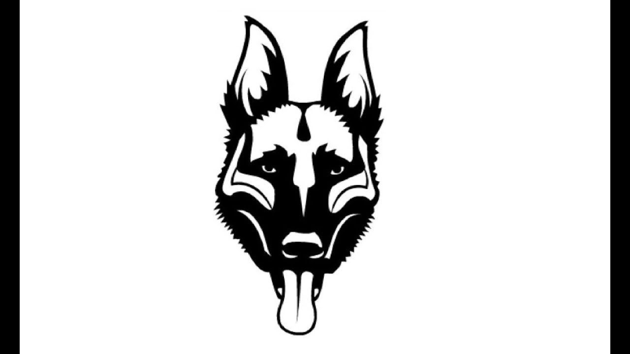 1280x720 How To Draw A Face Of A German Shepherd Kak Narisovat Litco