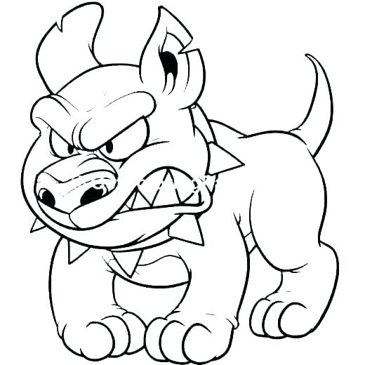 520x520 Pitbull Coloring Pages Realistic Coloring Pages Dog