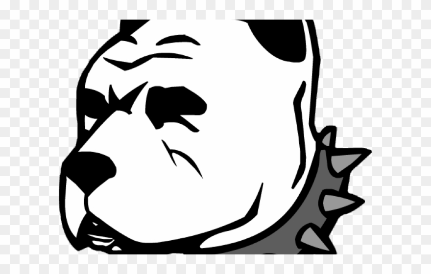 880x560 Black And White Pitbull Face Png Clipart