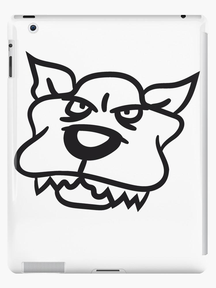 750x1000 Face Head Evil Pitbull Dangerous Attack Dog Big Monster Dog Ipad