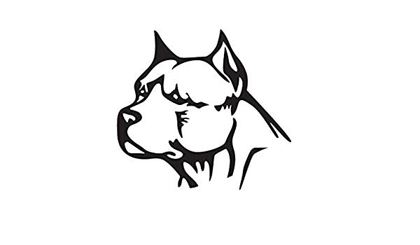 Pitbull Head Drawing