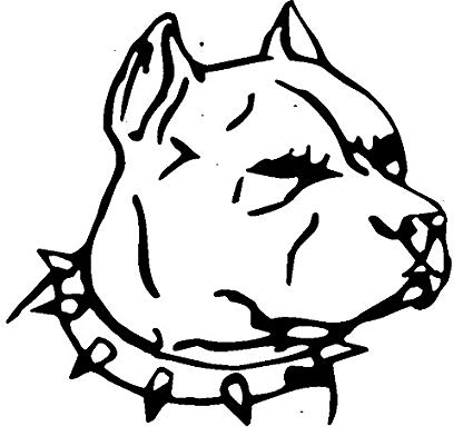 425x392 Huge Collection Of 'pitbull Head Drawing' Download More Than