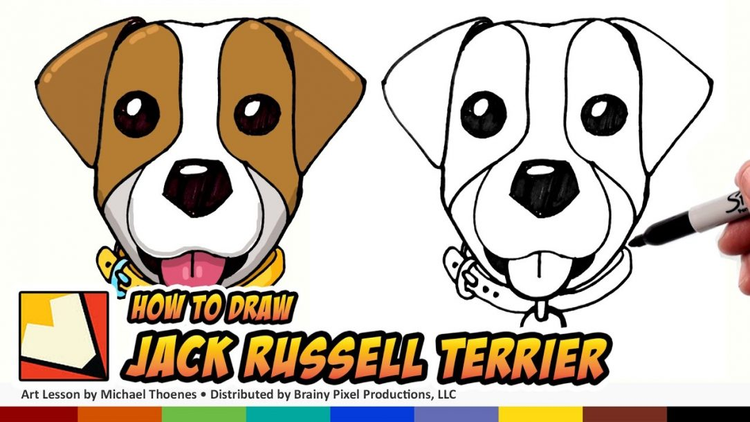 1084x610 Dog Face Line Drawing Vector Step