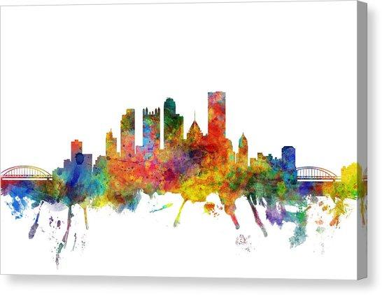 546x422 Pittsburgh Skyline Canvas Prints Fine Art America