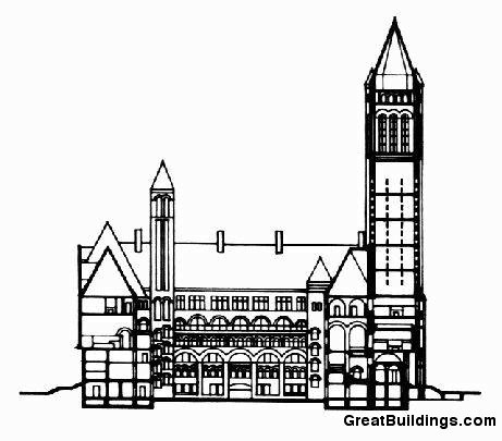 461x405 Great Buildings Drawing