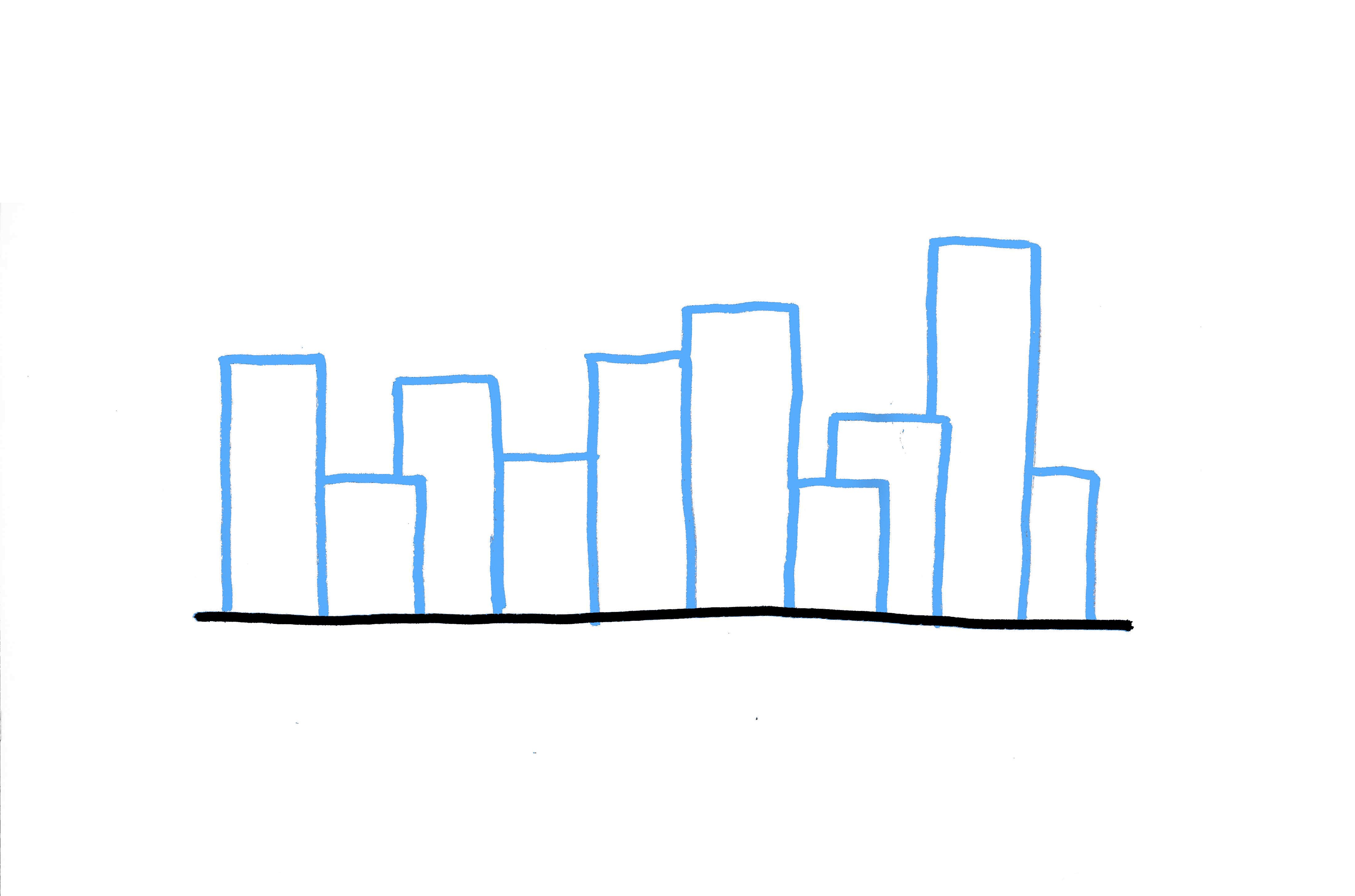 4400x2911 Drawn Skyline Line Drawing