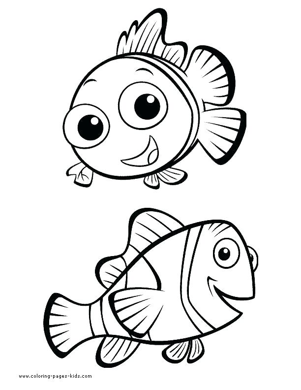 612x792 Nemo Coloring Book Pages Finding Pizza Drawing At Free Printable