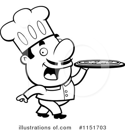 400x420 Pizza Chef Clipart