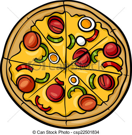 450x458 Pizza Line Drawing Clipart