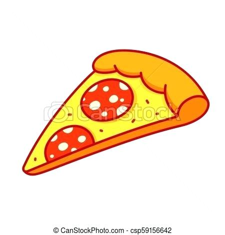 450x470 Pizza Slice Drawing Pepperoni Pizza Slice Drawing In Cartoon Comic