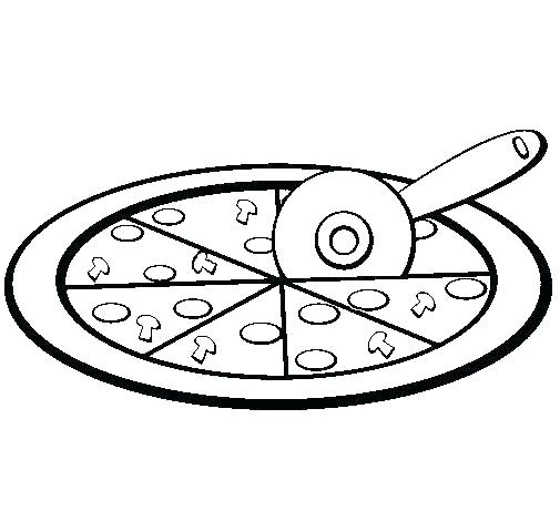 505x470 Pizza Toppings Coloring Pages Nightmare Drawing Colouring Topping