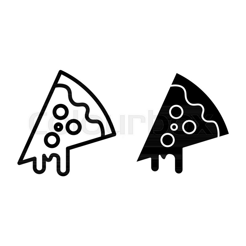 800x800 Slice Of Pizza Line And Glyph Icon Stock Vector Colourbox