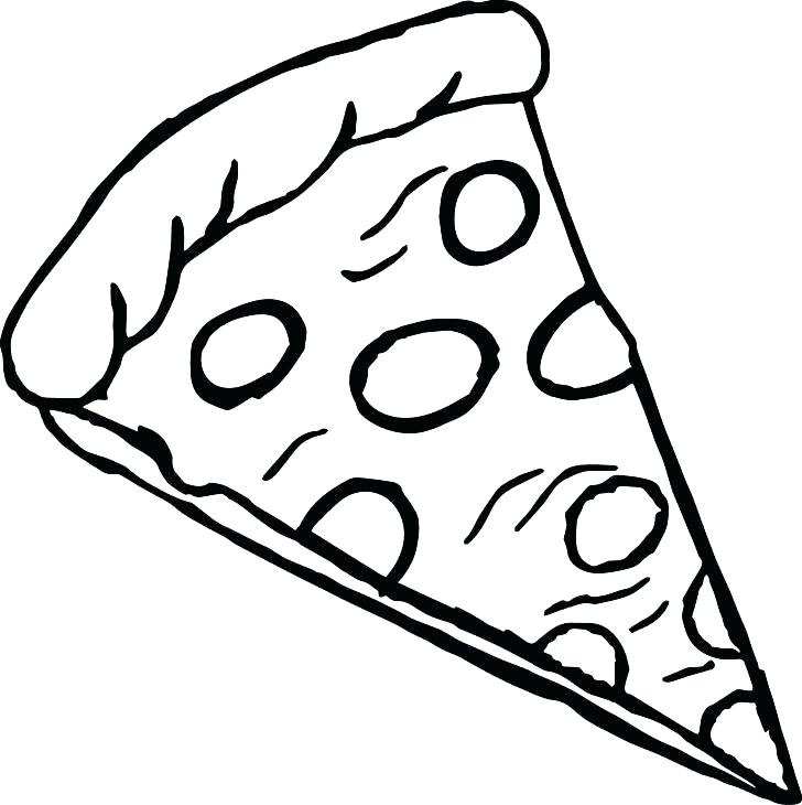 728x730 Collection Of 'cheese Pizza Drawing' Download More Than Images