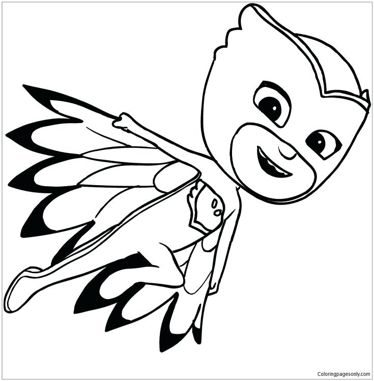 735x749 pictures of masks to color printable pictures of pj masks to color