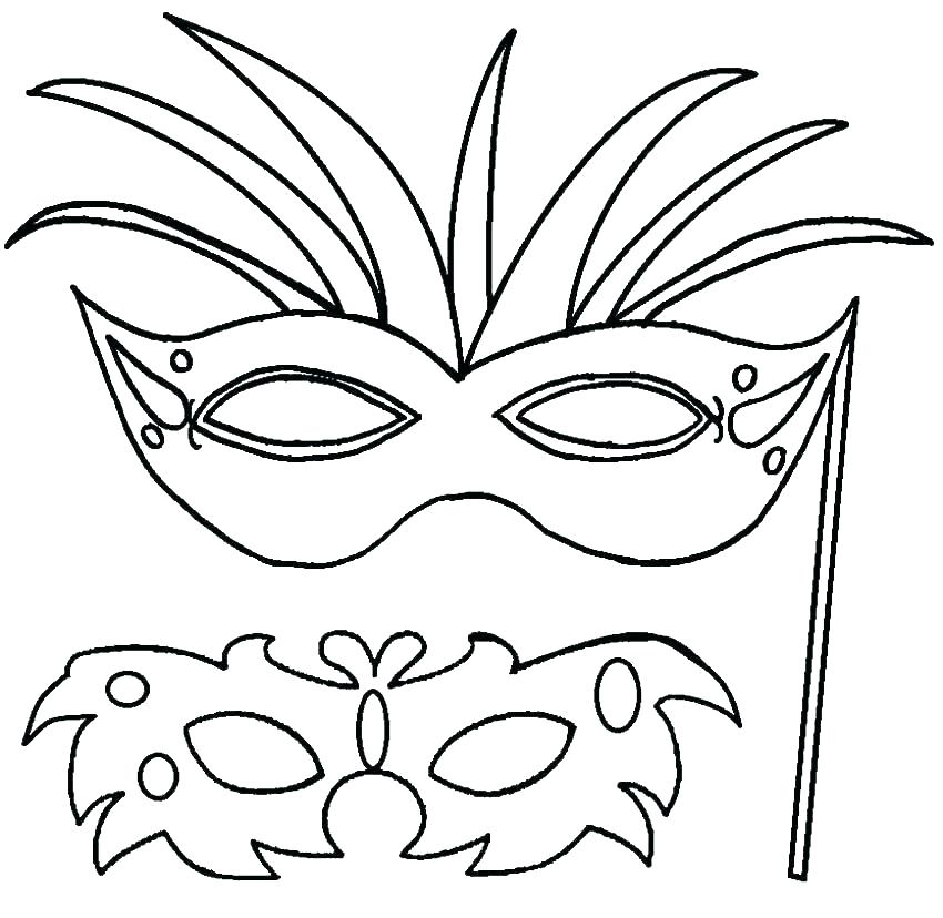 850x828 Mask Coloring Pages Printable