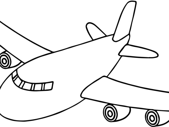 Plane Cartoon Drawing