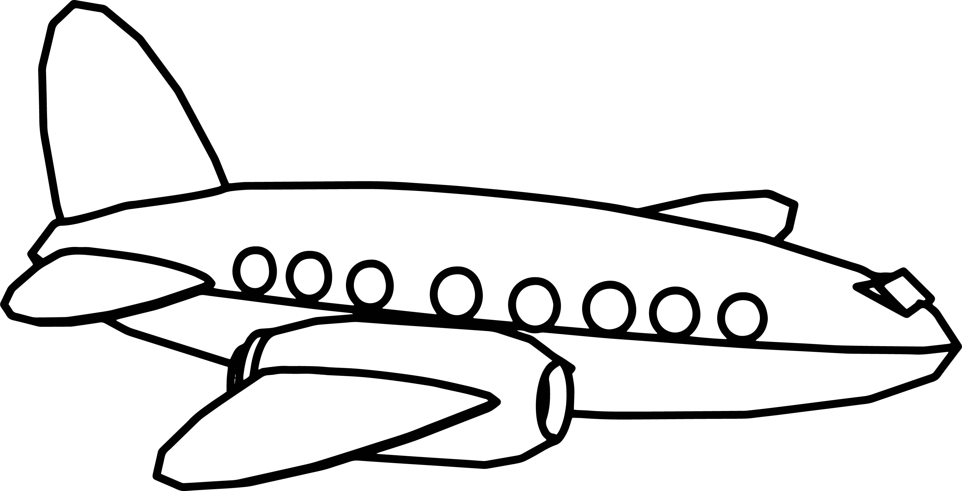 Plane Cartoon Drawing   Free download on ClipArtMag
