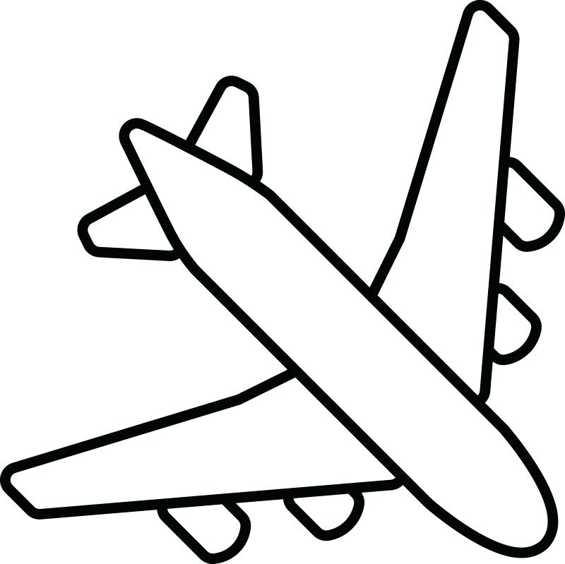 800x799 jet plane outline airplane outline jet plane outline image
