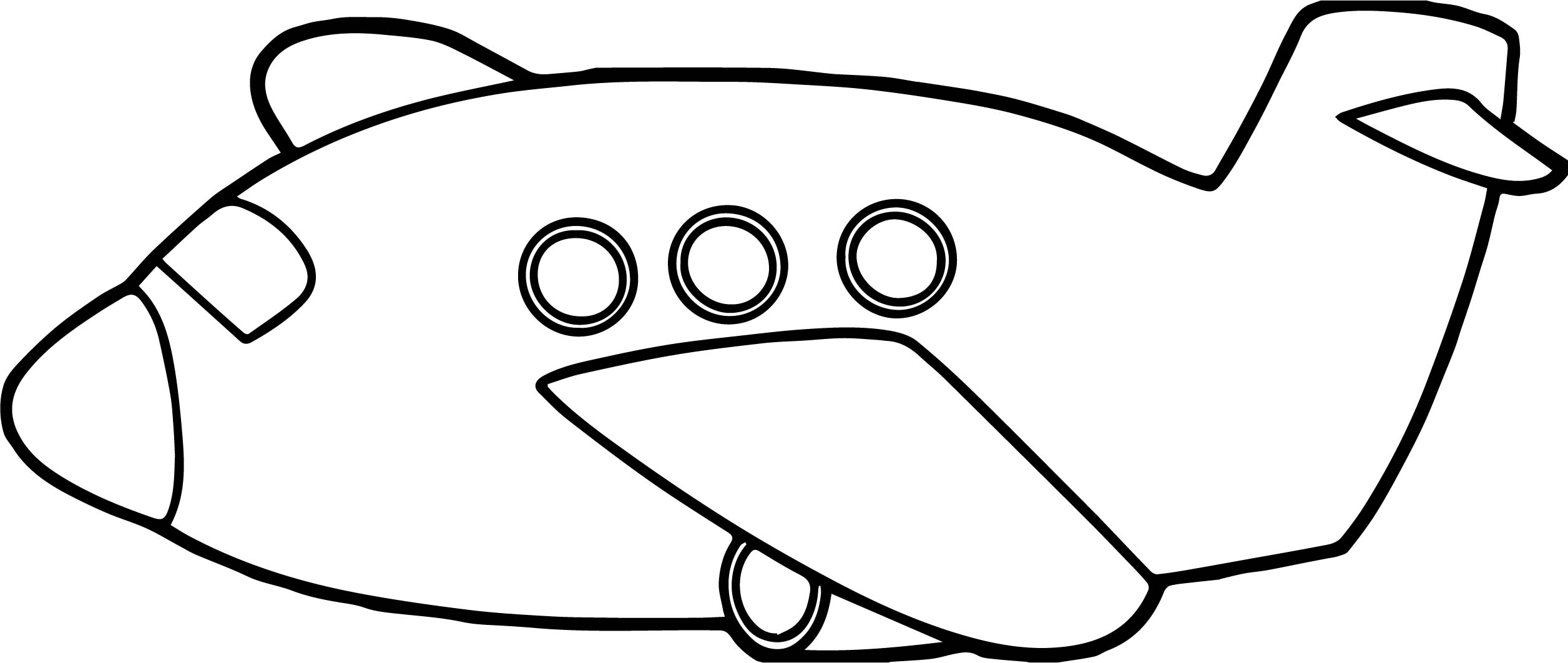 Plane Outline Drawing