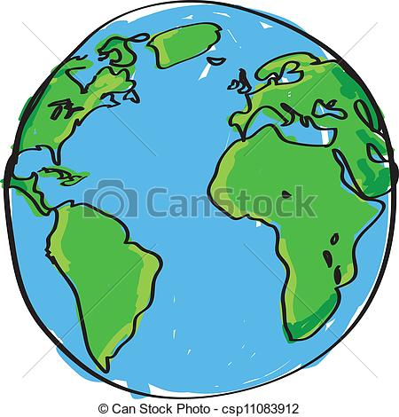 450x470 Earth Drawing Clipart
