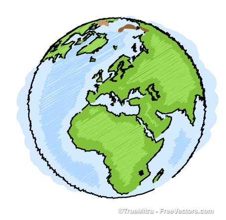 455x443 Free Earth Drawing Clipart And Vector Graphics