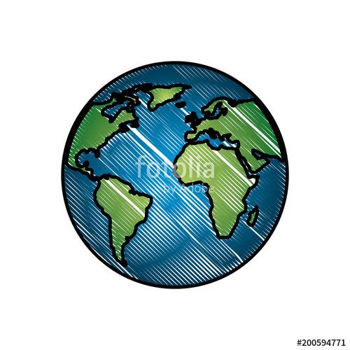 500x500 Planet Earth World Ecology Energy Alternative Vector Illustration