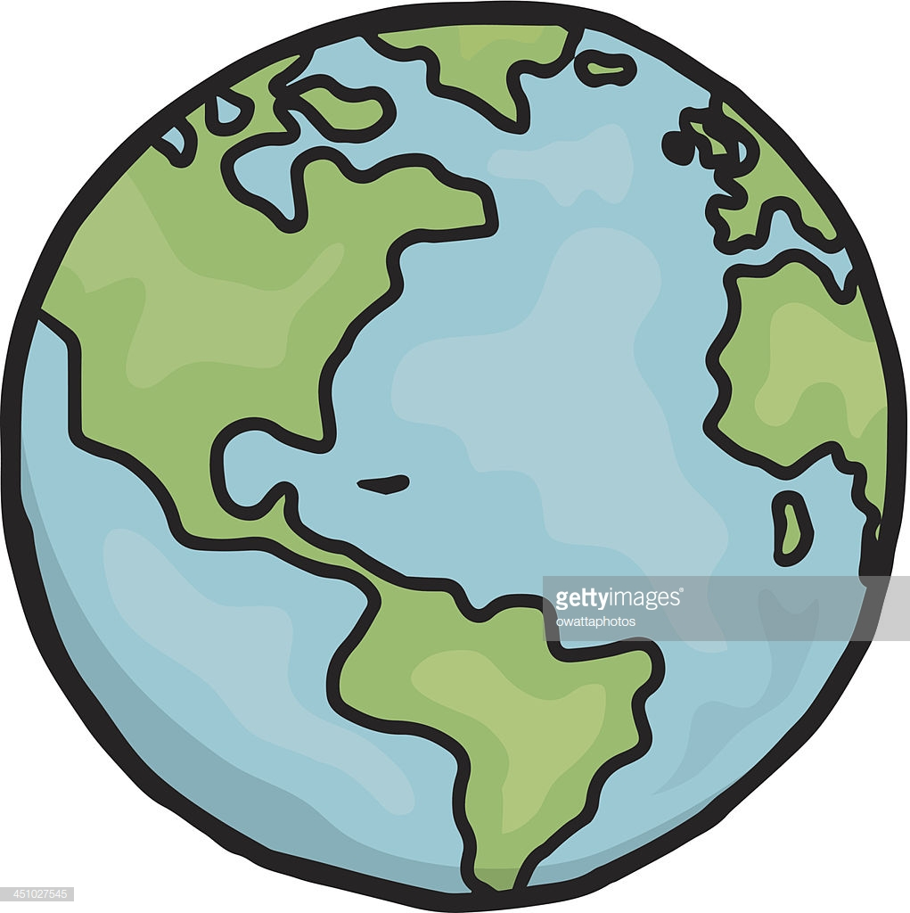 1021x1024 Collection Of 'cartoon Drawing Of Earth' Download More Than