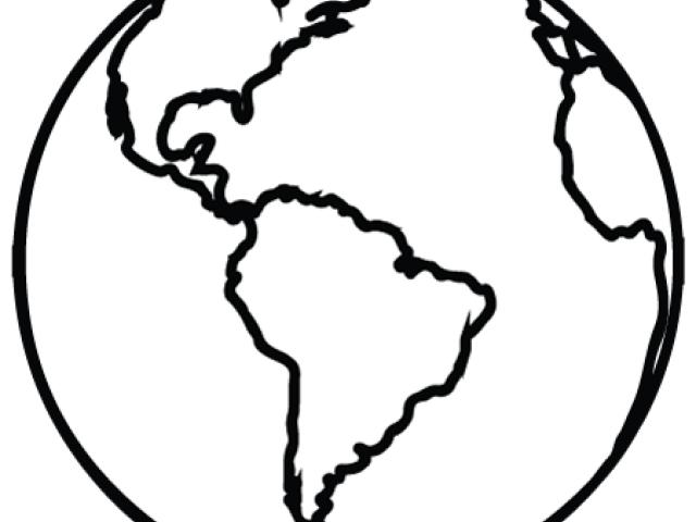 640x480 Drawn Planet Line Clipart