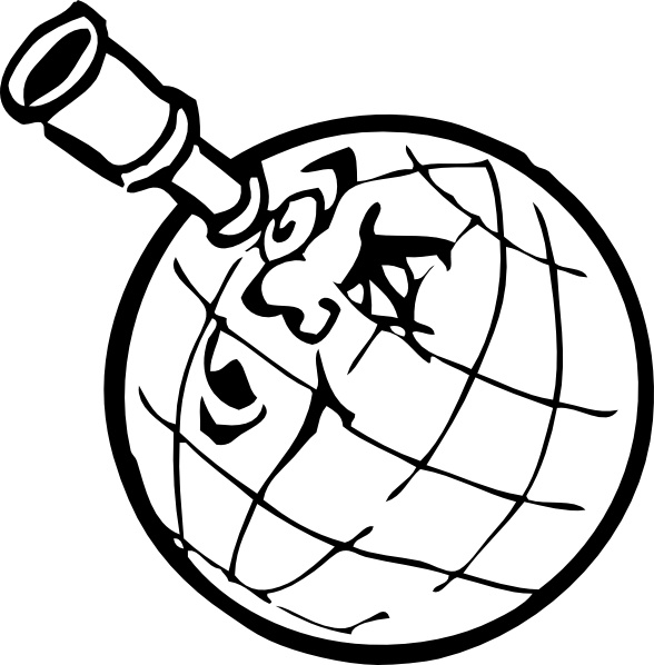 588x598 Planet With Spyglass Clip Art Free Vector In Open Office Drawing