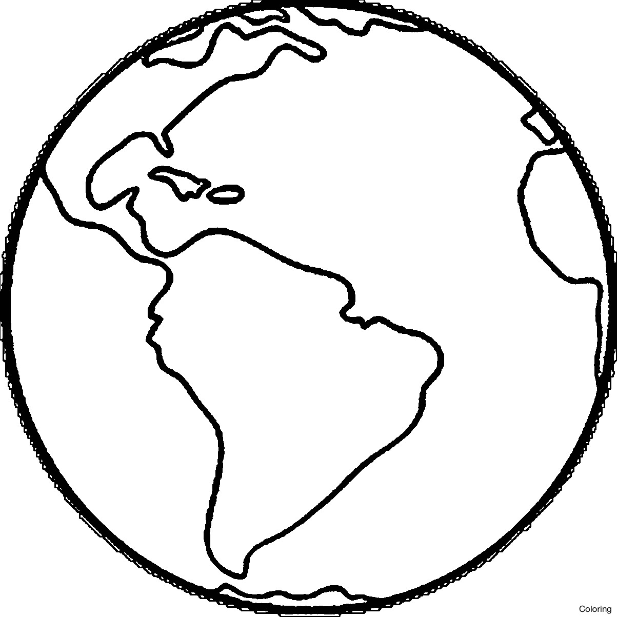 1203x1203 Globe Coloring