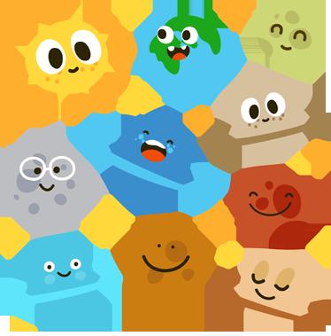 374x379 Kids Fun Planets Wall Decals Cartoon Sun, Planet