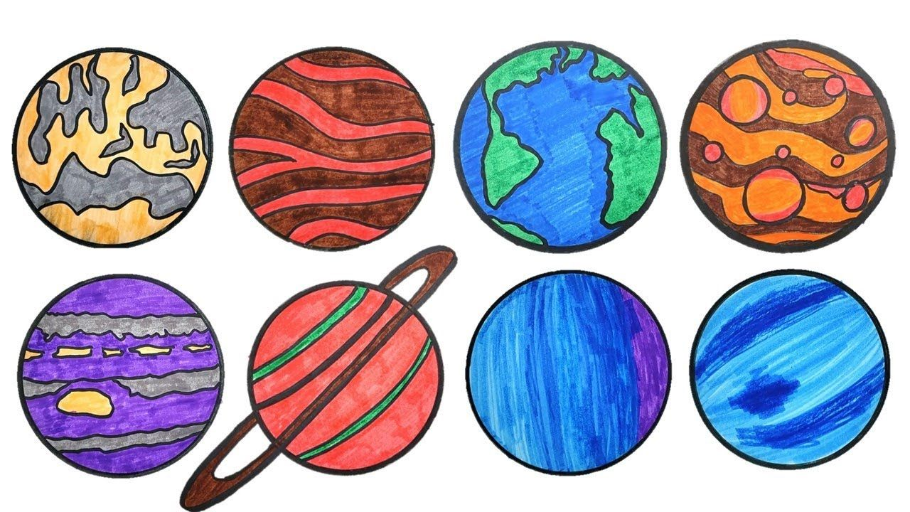 1280x720 Solar System Drawing For Children And Kids Teach About Planets
