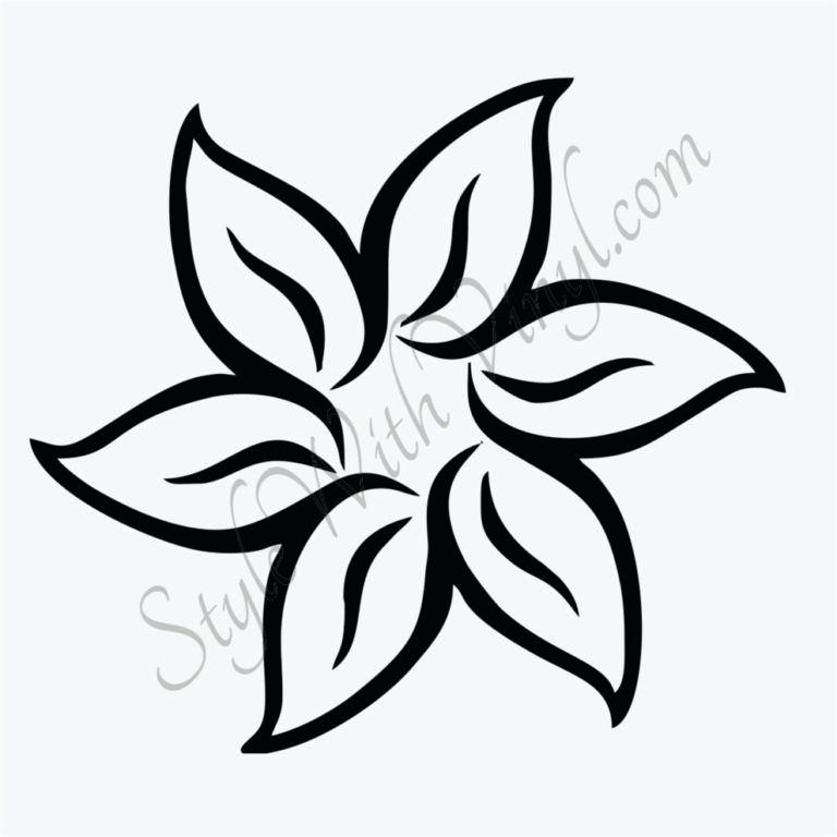 768x768 Simple Flower To Draw Flower Line Drawing